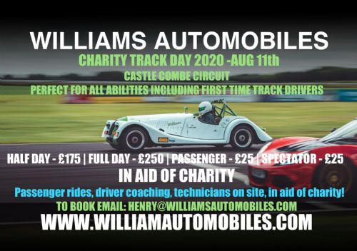 Williams Charity Track Day 2020 Spectator Package